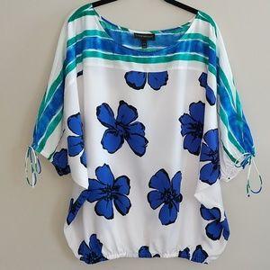 Lane Bryant Floral Dolman Shirt Top Size 14/16